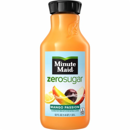 Minute Maid Zero Sugar Mango Passion Flavored Fruit Juice Drink Perspective: front