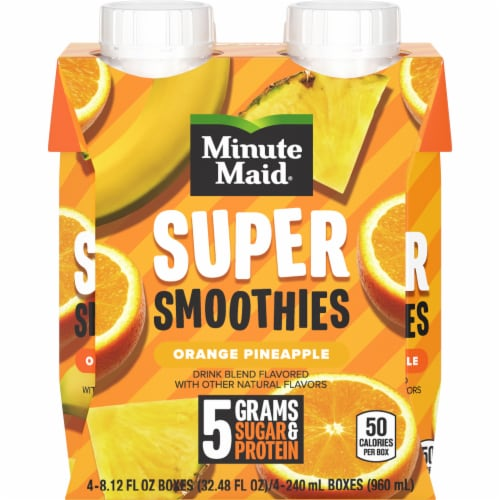 Minute Maid Super Smoothies Orange Pineapple Smoothies Perspective: front