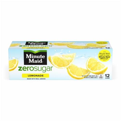 Minute Maid Zero Sugar Lemonade Fruit Juice Drink Fridge Pack Perspective: front