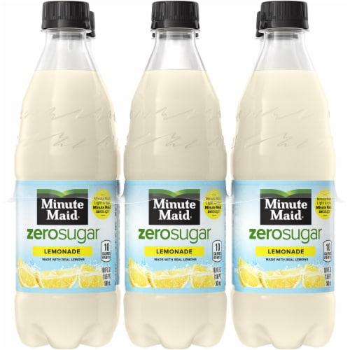Minute Maid Zero Sugar Lemonade Fruit Juice Drink Perspective: front