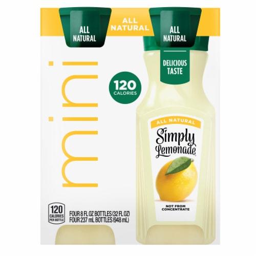 Simply Lemonade Mini Juice Drink Perspective: front