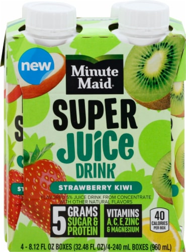 Minute Maid Strawberry Kiwi Super Juice Drink Perspective: front