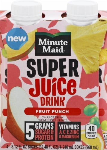 Minute Maid Fruit Punch Super Juice Perspective: front