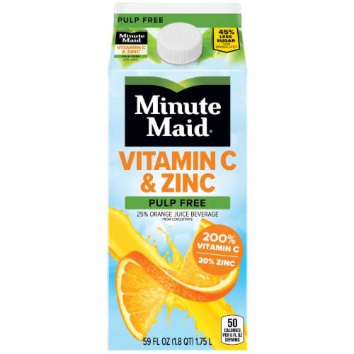 Minute Maid Vitamin C & Zinc Pulp Free Orange Juice Beverage Perspective: front