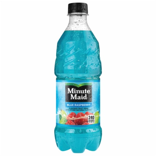 Minute Maid Blue Raspberry Flavored Fruit Drink Perspective: front