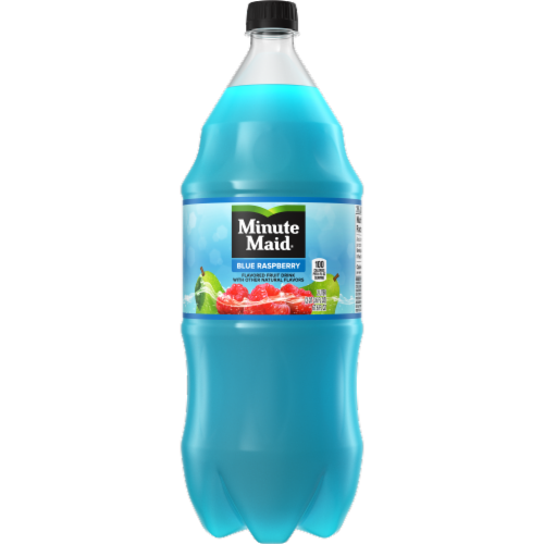 Minute Maid Blue Raspberry Flavored Fruit Drink Bottle Perspective: front