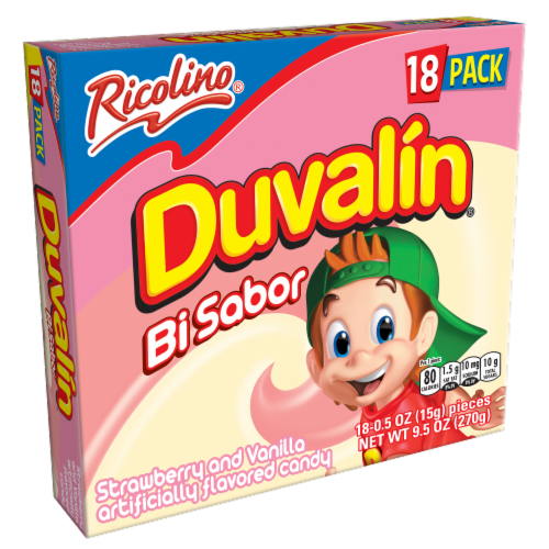 Duvalin Strawberry & Vanilla Flavored Candy Perspective: front