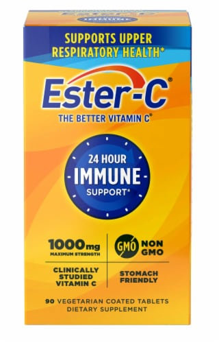 Ester-C 24 Hour Immune Support Vitamin C Vegetarian Tablets 1000mg Perspective: front