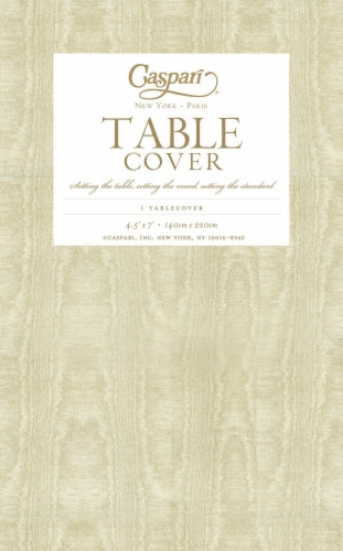 Caspari  Paper TC Moire Table Cover Gold Perspective: front