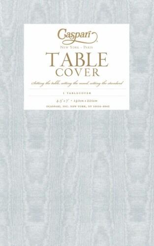 Caspari  Paper TC Moire Table Cover Platinum Perspective: front