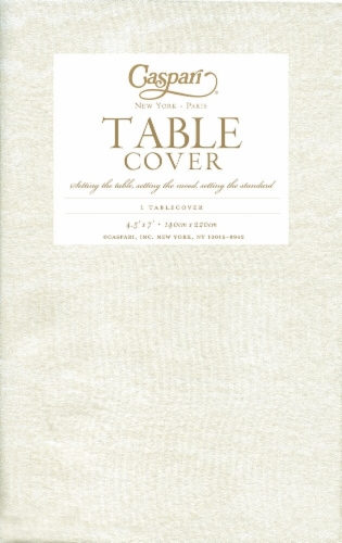Caspari Paper Moire Table Cover - Ivory Perspective: front