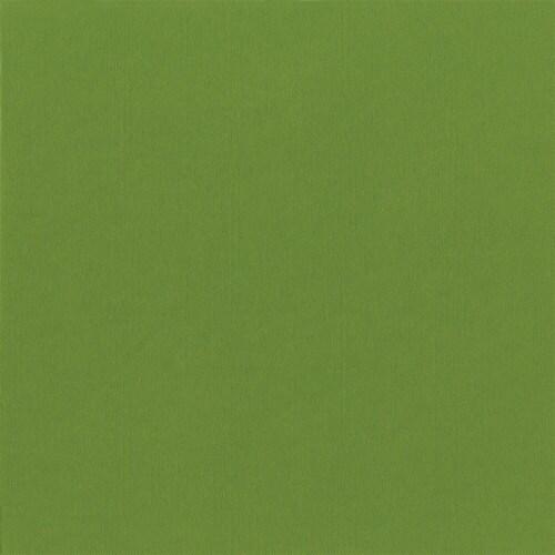 Caspari  Paper Linen Cocktail Napkin Moss Green Perspective: front