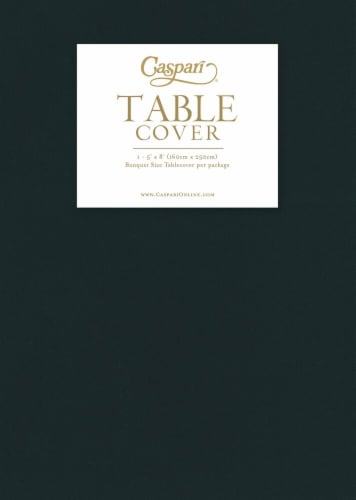 Caspari  Paper Linen Banquet Size Table Cover Black Perspective: front