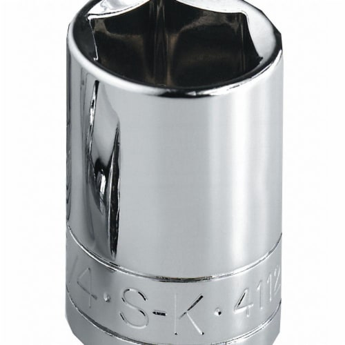 Sk Professional Tools Socket, Steel, Chrome, 5/16 in  40910 Perspective: front