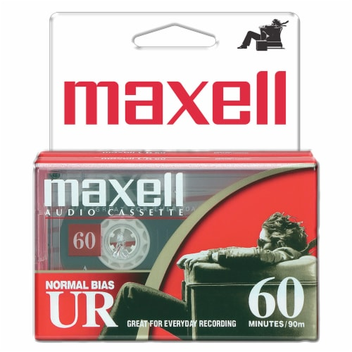 Maxell UR-60 Audio Cassette Tapes Perspective: front