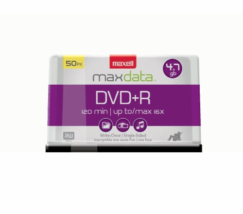 Maxell Max Data DVD+R 50 Pack Perspective: front