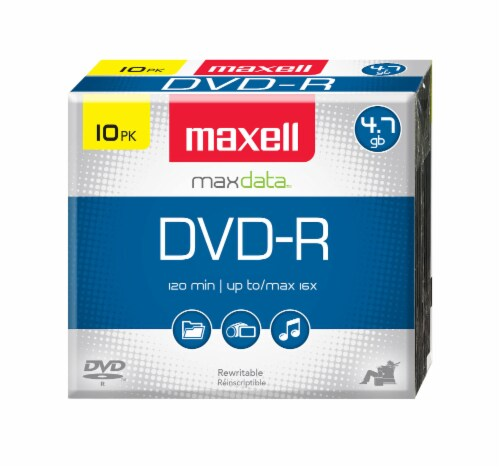 Maxell Max Data DVD-R 10 Pack Perspective: front