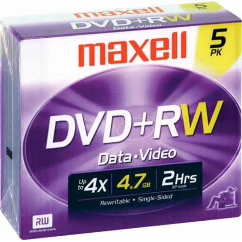 Maxell DVD+RW Discs Perspective: front