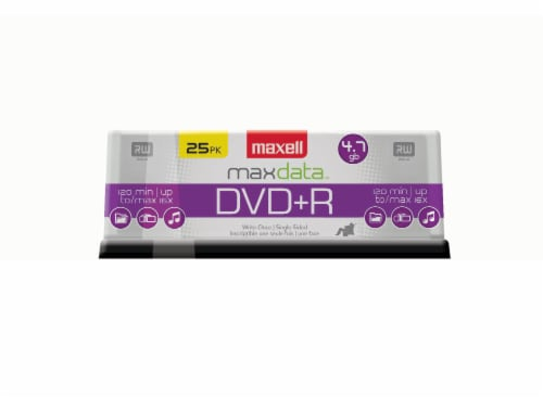 Maxell DVD+R Spindle Perspective: front