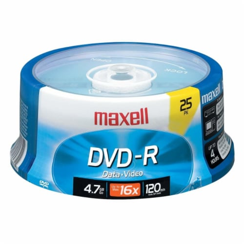 Maxell DVD-R Spindle Perspective: front