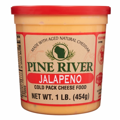 Pine River Jalapeno Cold Pack Cheese Food Perspective: front