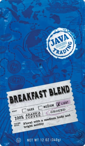 Java Trading Breakfast Blend Light Ground Coffee Perspective: front