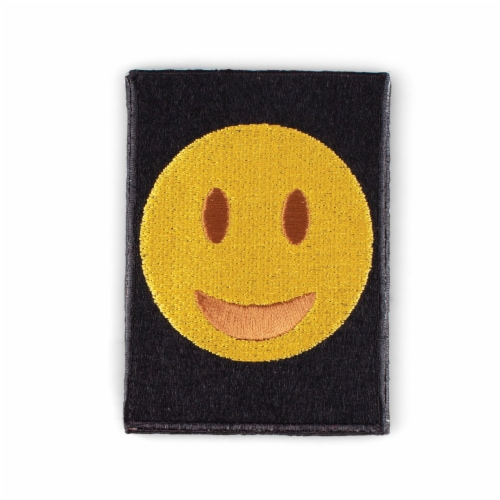 Smiley Face Shaped Stick-On Phone Wallet Perspective: front