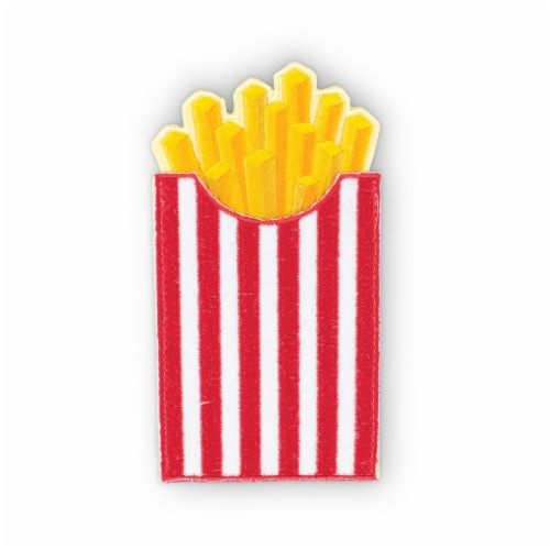 French Fries Shaped Stick-On Phone Wallet Perspective: front