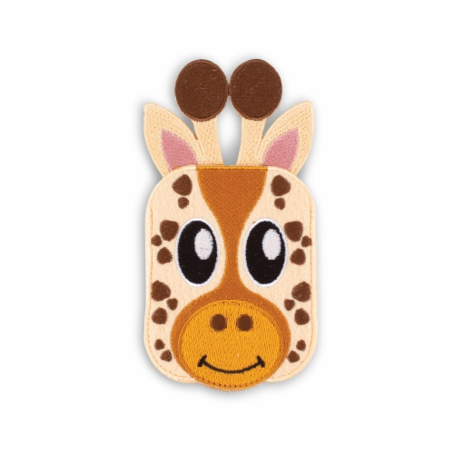 Giraffe Shaped Stick-On Phone Wallet Perspective: front