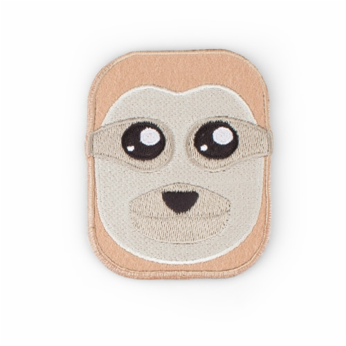 Sloth Shaped Stick-On Phone Wallet Perspective: front