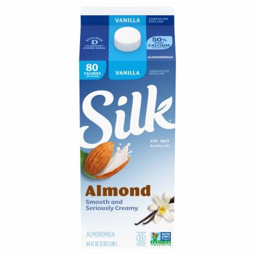 Silk Vanilla Almond Milk Perspective: front