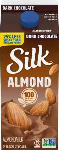 Silk Dark Chocolate Almondmilk Perspective: front
