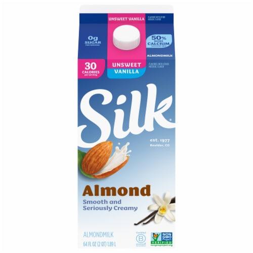 Silk Unsweet Vanilla Almondmilk Perspective: front