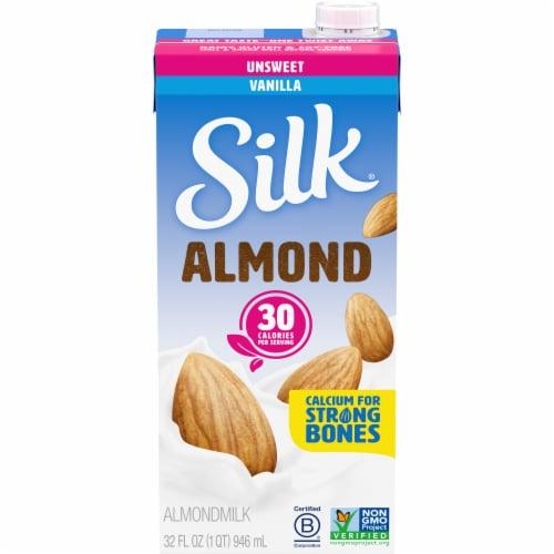 Silk Unsweetened Vanilla Almond Milk Perspective: front