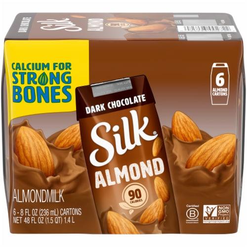 Silk Dark Chocolate Almond Milk Perspective: front