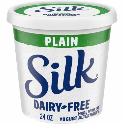 Silk Plain Dairy-Free Soy Yogurt Alternative Perspective: front