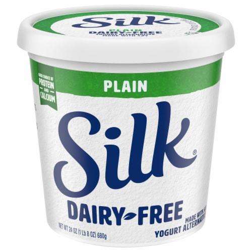 Silk® Plain Dairy-Free Soy Yogurt Alternative Perspective: front