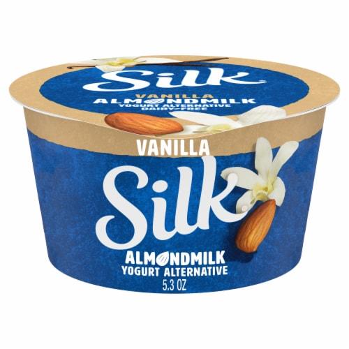 Silk Vanilla Almond Milk Yogurt Alternative Perspective: front