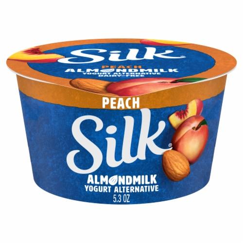 SilkPeach Almond Milk Yogurt Alternative Perspective: front