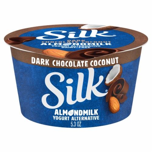Silk®Dark Chocolate Coconut Almondmilk Yogurt Perspective: front