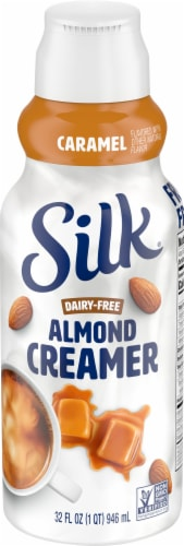 Silk Caramel Flavored Almond Creamer Perspective: front