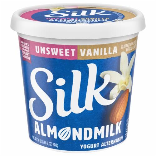Silk Unsweetened Vanilla Almondmilk Yogurt Alternative Perspective: front