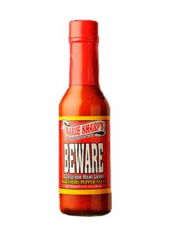 Marie Sharp's Beware Habanero Hot Sauce Perspective: front