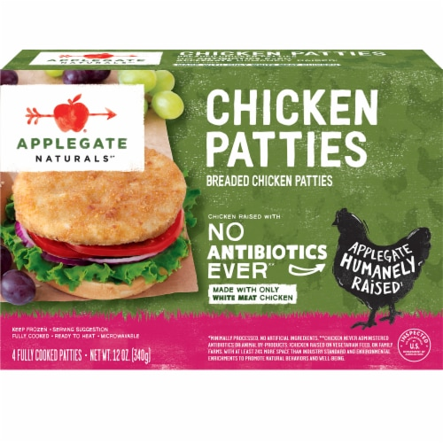Applegate Natural Breaded Chicken Patties Perspective: front