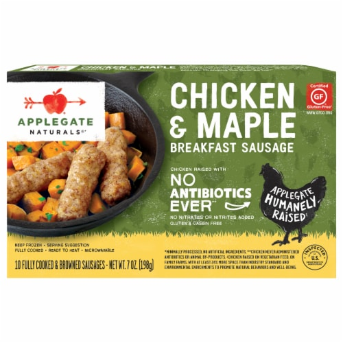 Applegate Natural Chicken & Maple Breakfast Sausage Perspective: front