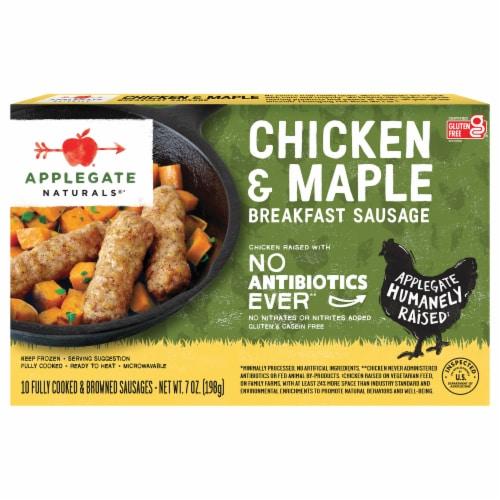 Applegate Naturals® Chicken & Maple Breakfast Sausage Perspective: front