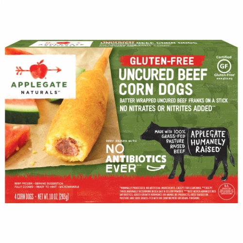 Applegate Naturals Gluten-Free Uncured Beef Corn Dogs Perspective: front