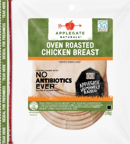 Applegate Naturals® Oven Roasted Chicken Breast Perspective: front