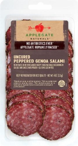 Applegate Naturals Uncured Peppered Genoa Salami Perspective: front