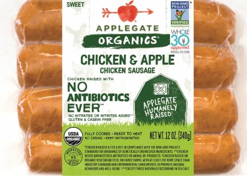 Applegate Organics Chicken & Apple Sausage Perspective: front